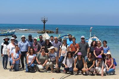 merchavim staff at beach